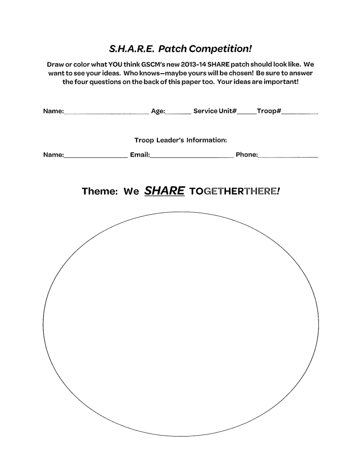 SHARE Patch Design Contest!