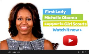 Michelle Obama Supports Girl Scouts