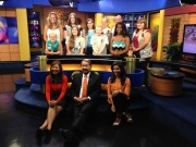 As the finale to their Media Journey, troop 166 toured the WJZ news station in Baltimore. Along with members of troop 772 and 1766, the girls learned about set design, robotic cameras, and many other technologies used behind the scenes. They even got to play meteorologist in front of the green screen. After watching the filming of the noonday news, the girls met the TV personalities and learned about how they got their start and what it takes to be a news anchor.
