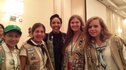 GSCM Girl Scouts with CEO of GSUSA, Anna Maria Chavez