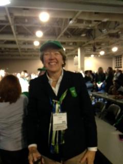 GSCM Board Chair, Lynne Durbin is ready to start the fun!