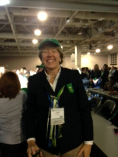 GSCM Board Chair, Lynne Durbin is ready to start the fun!