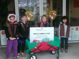 Troop 2 Delivers Cookies from the Heart 6