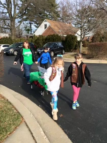 Troop 2 Delivers Cookies from the Heart 7