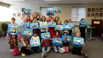 All of the Brownies with some of their art!