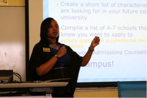 Notre Dame Admissions Counselor Danielle Jordan               talks about selecting a college.