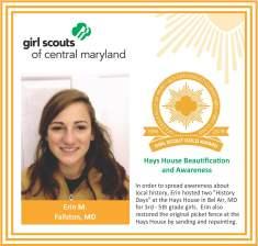 Gold Award for facebook Erin McCaughey