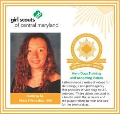 Gold Award for facebook Kathryn Miller