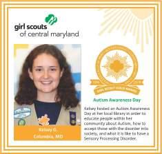 Gold Award for facebook Kelsey Guerinot