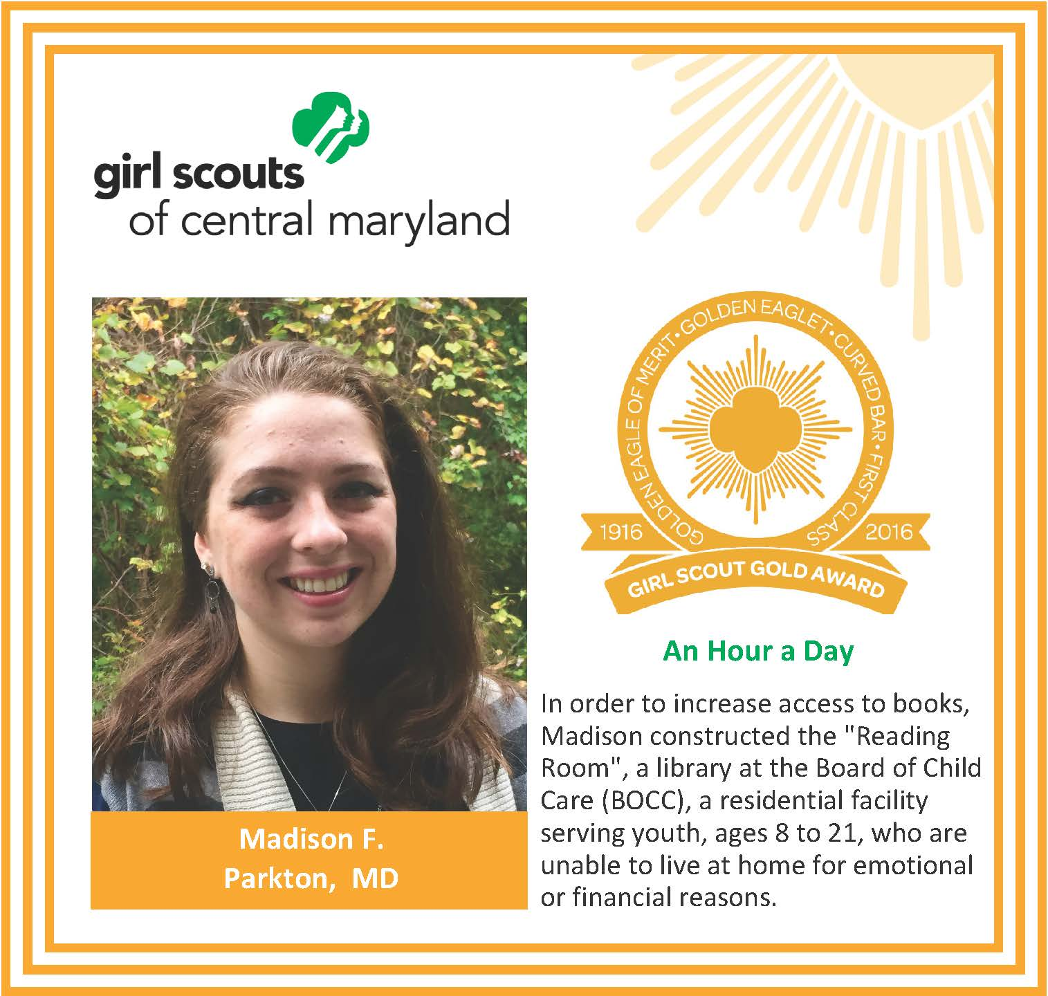 a08b45f0e4b Gold Award for facebook Madison Feser – Girl Scouts of Central Maryland