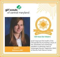 Gold Award for facebook Sarah Kulis