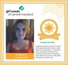 Gold Award for facebook Stephanie Demetreon